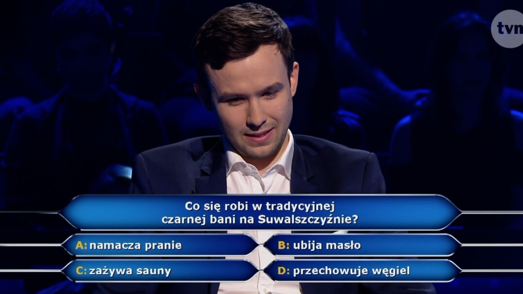 """Pytanie z """"Milionerów"""" o czarną banię na Suwalszczyźnie"""