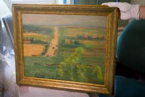 """Policja odnalazła """"Drogę do Nałęczowa"""". Obraz skradziono kilkanaście lat temu"""