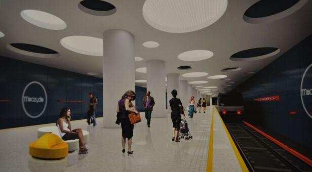 Projektowana stacja Moczydło Metro Warszawskie