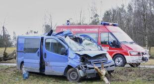 W Łyśniewie drzewo spadło na samochód, kierowca nie przeżył
