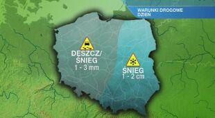 Warunki drogowe w poniedziałek 30.11